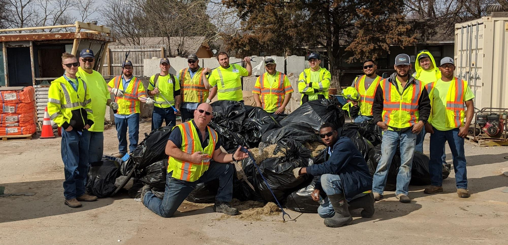 City employees pick up more than 150 bags of litter
