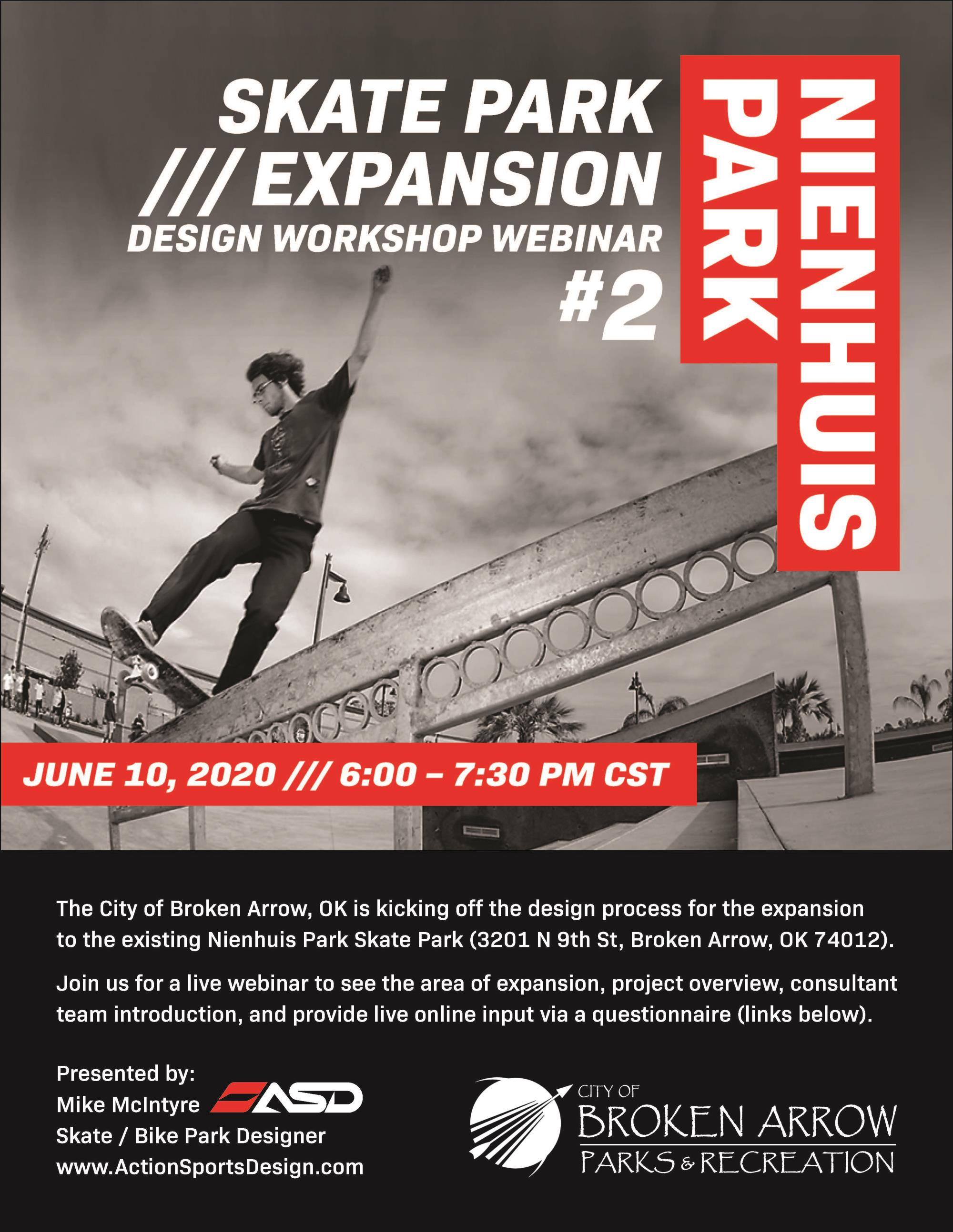 Nienhuis Park Skate Park Expansion Design Workshop Webinar #2